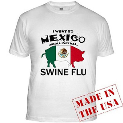 Estive no México e tudo que eu trouxe foi a gripe suína.